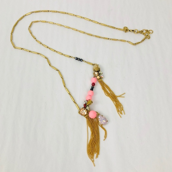J. Crew Jewelry - J. Crew Asymmetric Cluster Long Necklace
